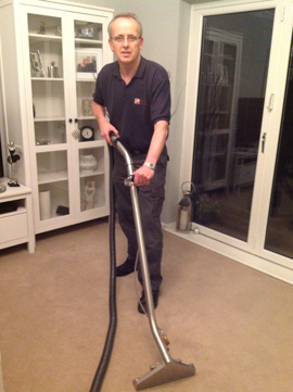 Man with Hoover
